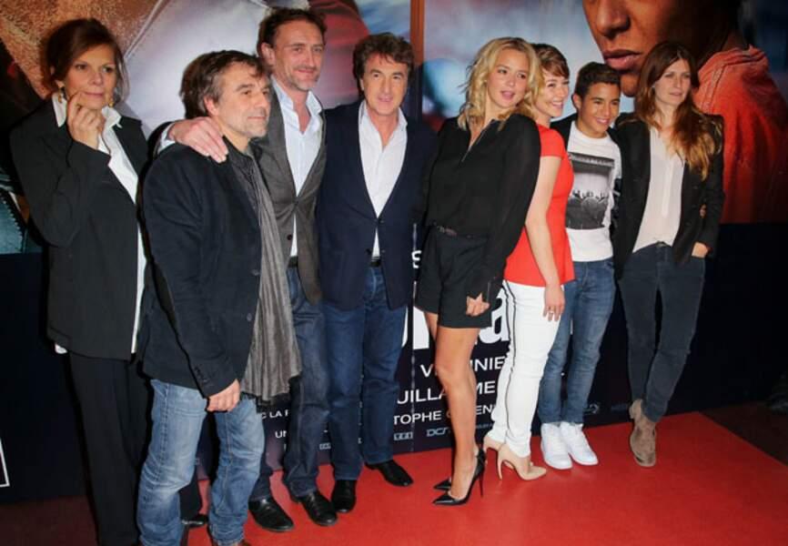 L'équipe du film en Solitaire