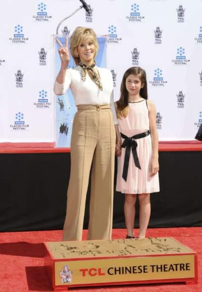 Avec sa petite fille Viva Vadim