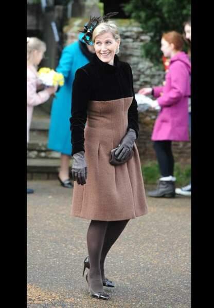 Noël bicolore à Sandringham pour l'épouse du prince Edward