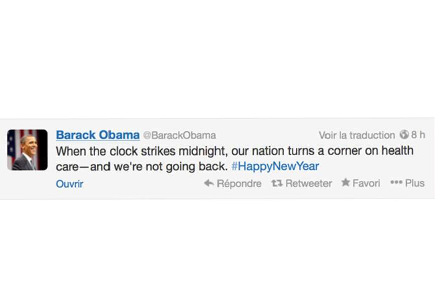 Barack Obama espère une belle année 2014
