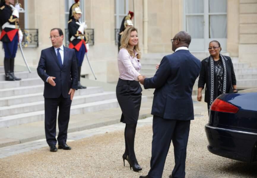 Accueil du président malien et de son épouse à l'Elysée