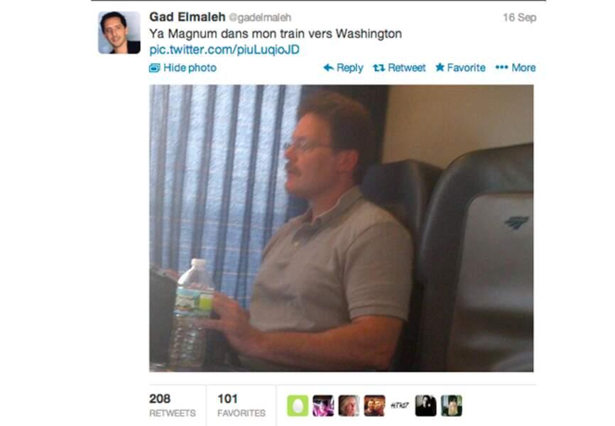 @GadElmaleh croit avoir vu Magnum
