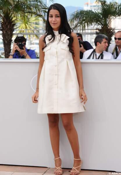 Toute timide au photocall d'Un prophète, au festival de Cannes de 2009