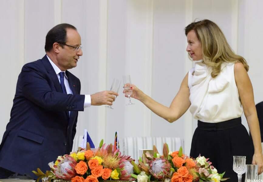 Hollande-Trierweiler: une complicité affichée
