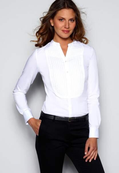 La Redoute – Chemises manches longues à plastron – 24,99€