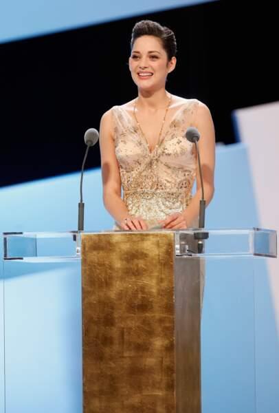 2010, Marion Cotillard préside la cérémonie des Césars