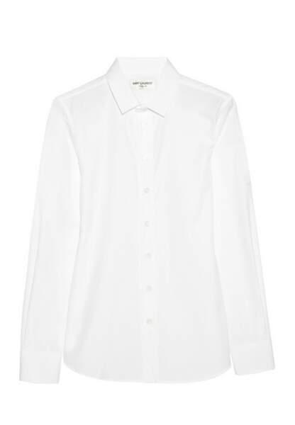 Saint Laurent – Chemise en popeline de coton – 390€