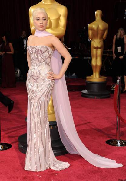 Lady Gaga, en Versace