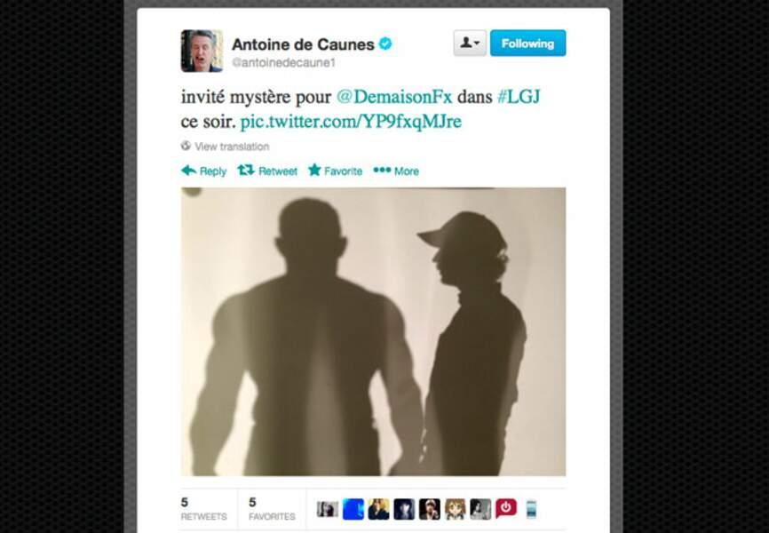 Antoine de Caunes réserve une surprise à son ami FX Demaison