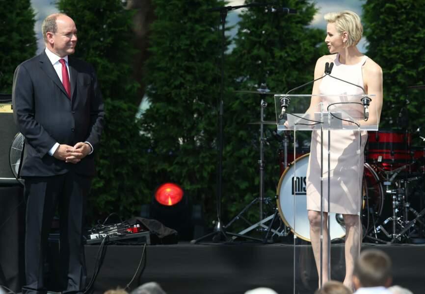 Pour marquer cet évènement, Charlène de Monaco a prononcé son premier discours en Français