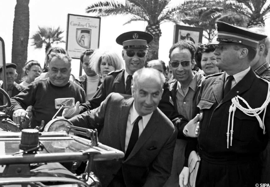Louis de Funès au festival de Cannes en 1966