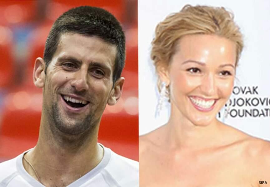 Le tennisman Novac Djokovic et Jelena Ristic, fiancés depuis septembre 2013