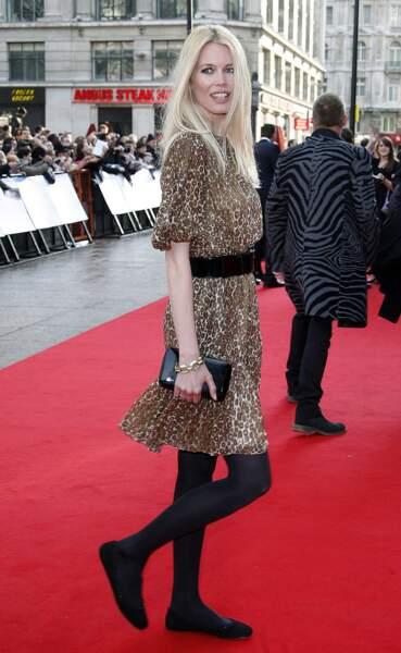 Claudia Schiffer les aime sur le tapis rouge