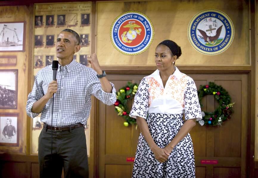 Michelle et Barack Obama et Hawaï