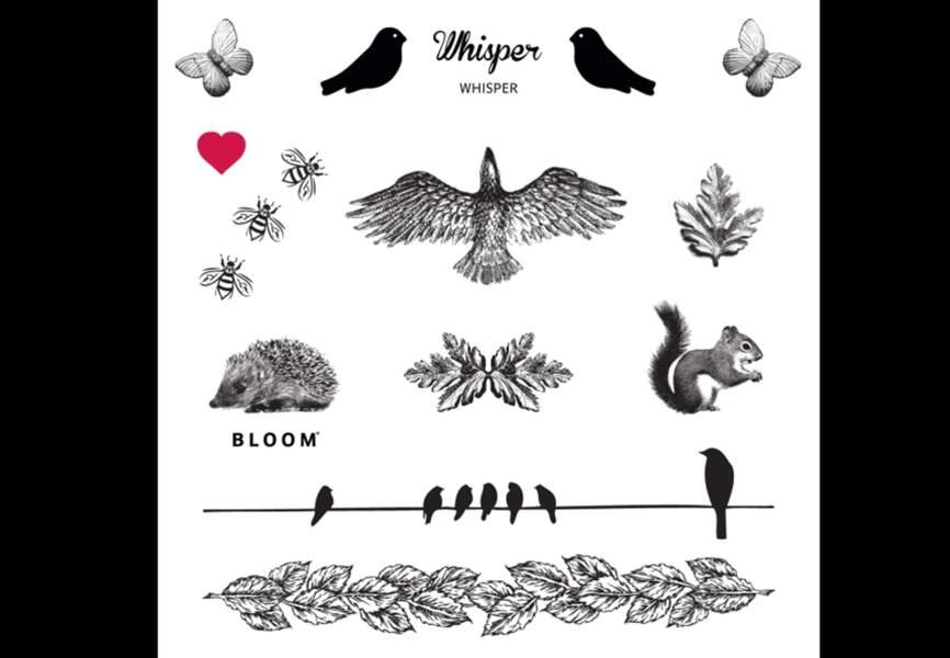 Bloom - Planche tattoo whisper – 9,50€ Disponible sur merci-merci.com