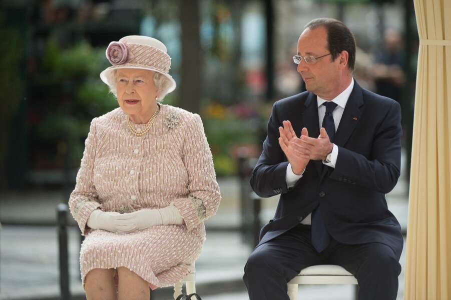 La reine Elizabeth II et François Hollande