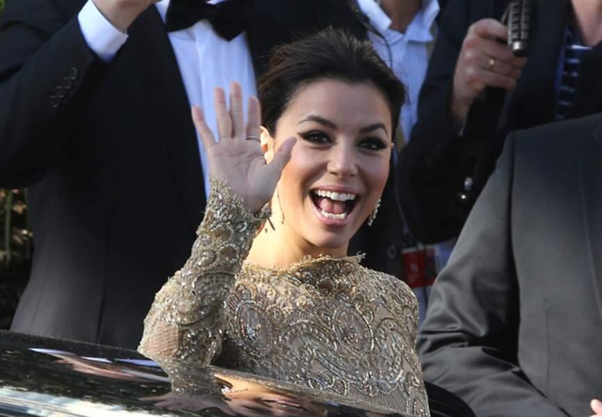 Egérie L'Oréal, Eva Longoria arrive au festival de Cannes