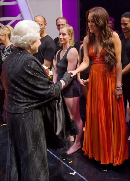 Miley Cyrus, intimidée par la reine