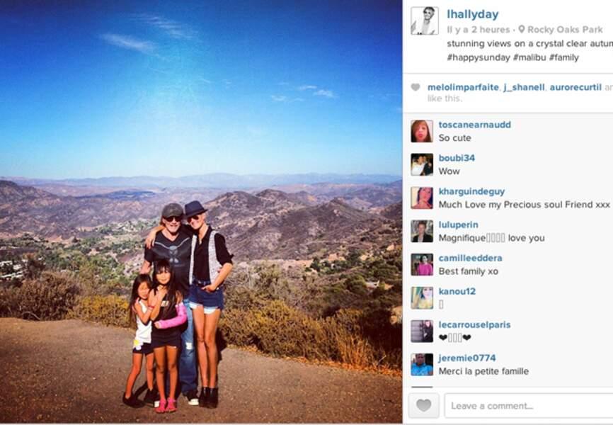 @LHallyday poste une jolie photo de famille sur instagram