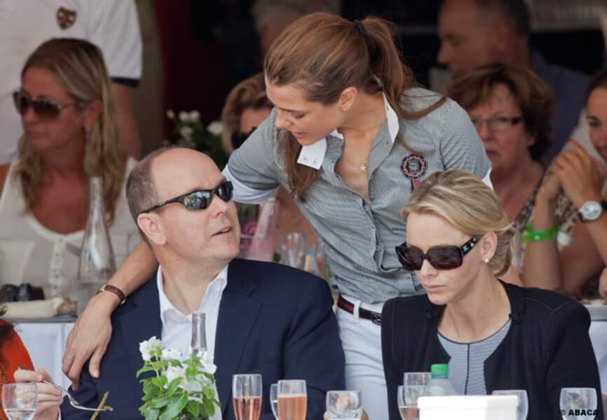 Le couple princier Albert II et Charlène, très proches de leur nièce