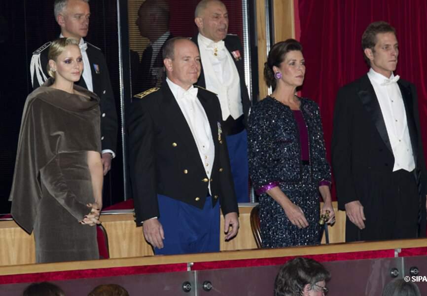 Charlène de Monaco, le prince Albert II, Caroline et Andrea