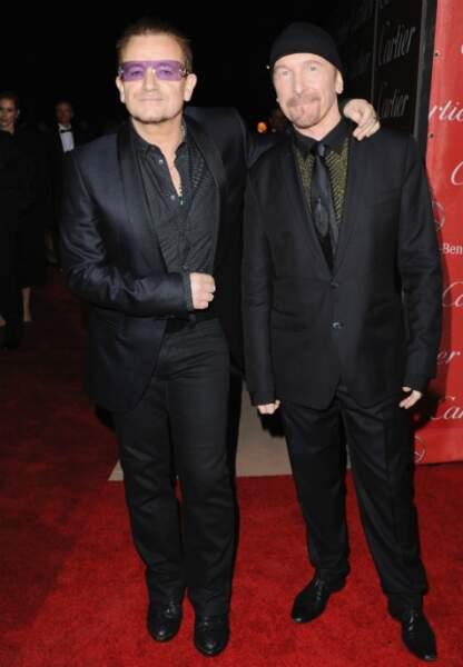 Bono et The Edge du groupe U2