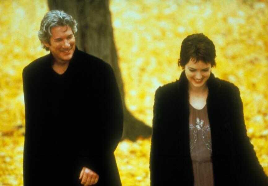 Richard Gere passe Un automne à New York avec Winona Ryder en 2000