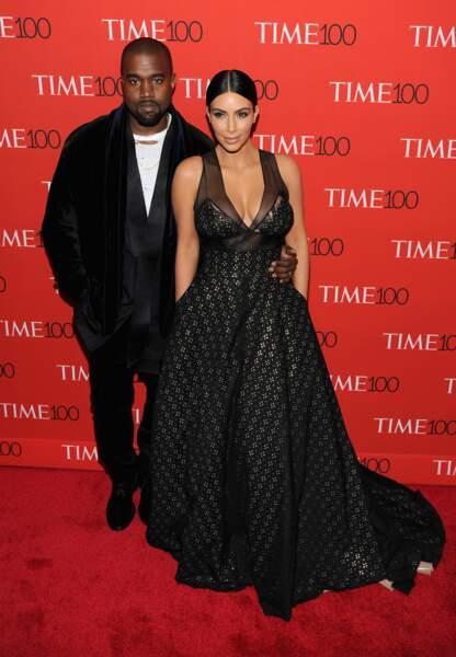 Kim Kardashian et son époux Kanye West