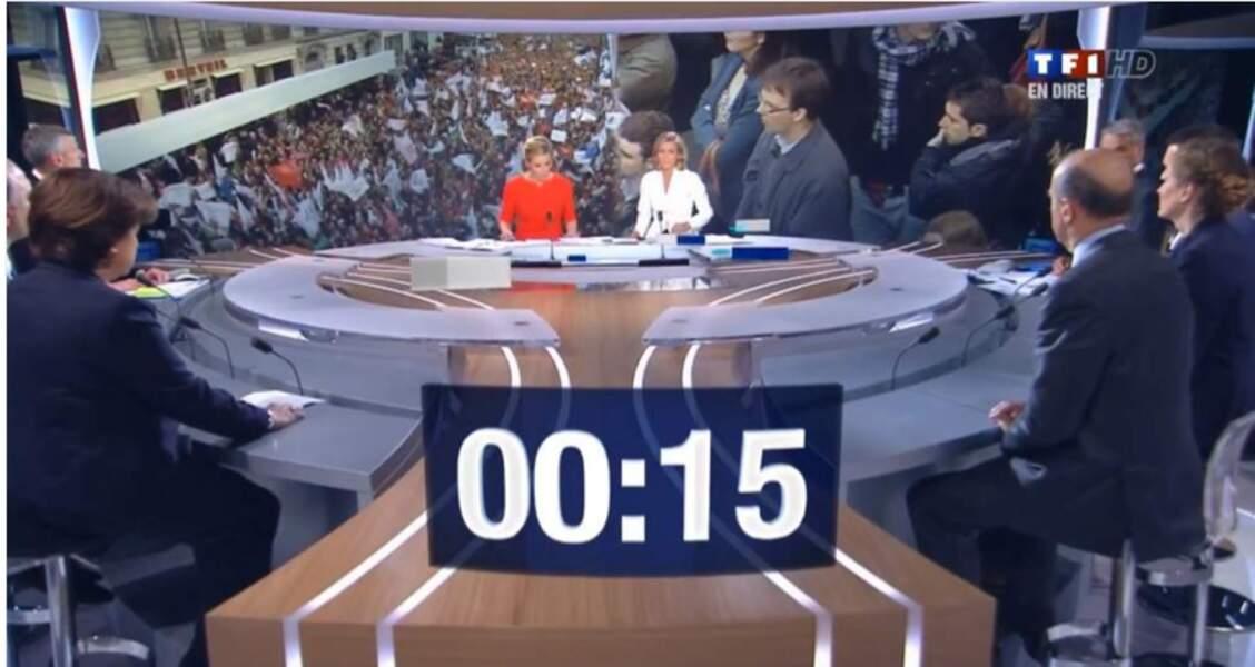 Lors de l'annonce de la victoire de François Hollande en 2012