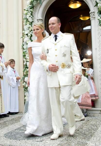 Pour son mariage religieux le 2 juillet 2011, Charlène de Monaco fait confiance à Armani