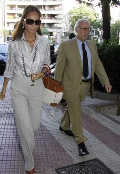 Isabel Preysler avec le ministre de l'économie Miguel Boyer