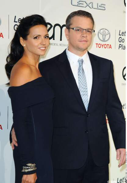 Matt Damon et son épouse