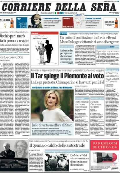 Une du Corriere della Sera