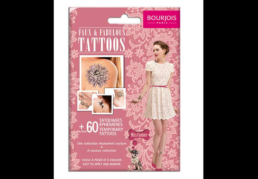 Bourjois - Faux & Fabulous Tattoo Miss Couture - 9,99€