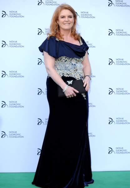 Sarah Ferguson ne peut dissimuler sa prise de poids en juillet 2013