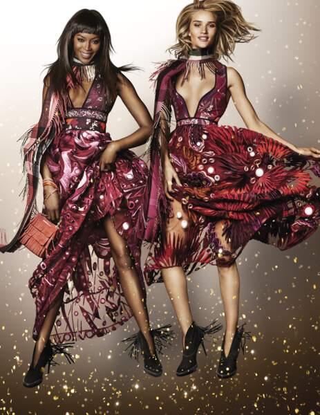 Les tops Naomi Campbell et Rosie Huntington-Whiteley