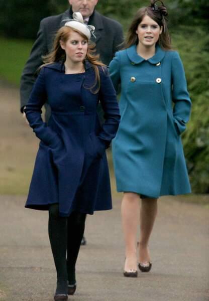 Les princesses Béatrice et Eugénie à Sandringham pour Noël en 2006