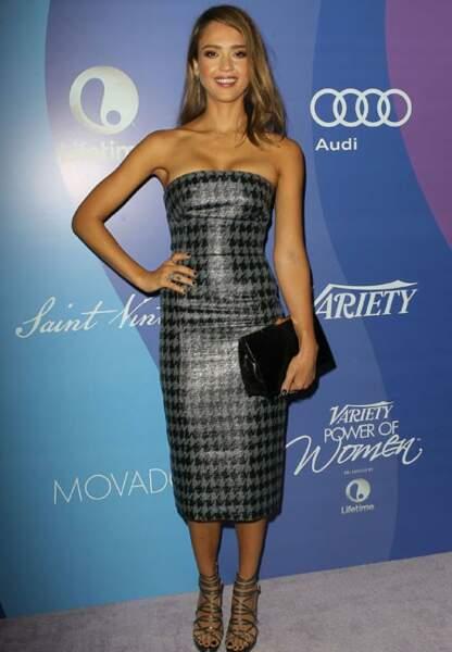 Jessica Alba et sa robe Dior.