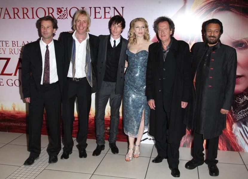 Cate Blanchett et l'équipe de Elizabeth l'âge d'or
