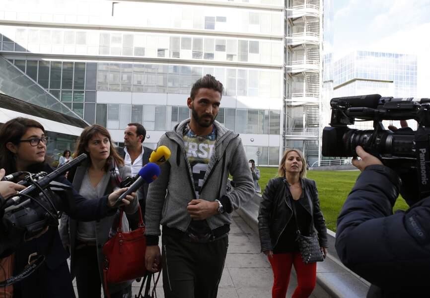 Thomas Vergara n'a fait aucune déclaration aux médias lors de sa sortie
