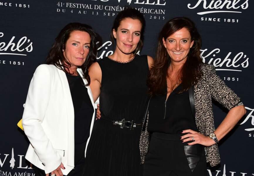 L'actrice Zoé Felix entourée d'Anne-Gaëlle Kerdranvat, Directrice Générale Kiehl's France et Nathalie Debras