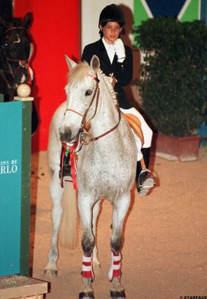 Charlotte au 4ème jumping international de Monaco en 1998