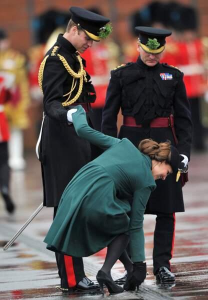 Problème de talon coincé de la parade de la St Patrick, le 17 mars 2013