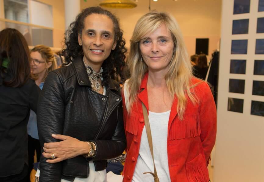 Karine Silla et Marie Poniatowski (designeuse Stone Paris)
