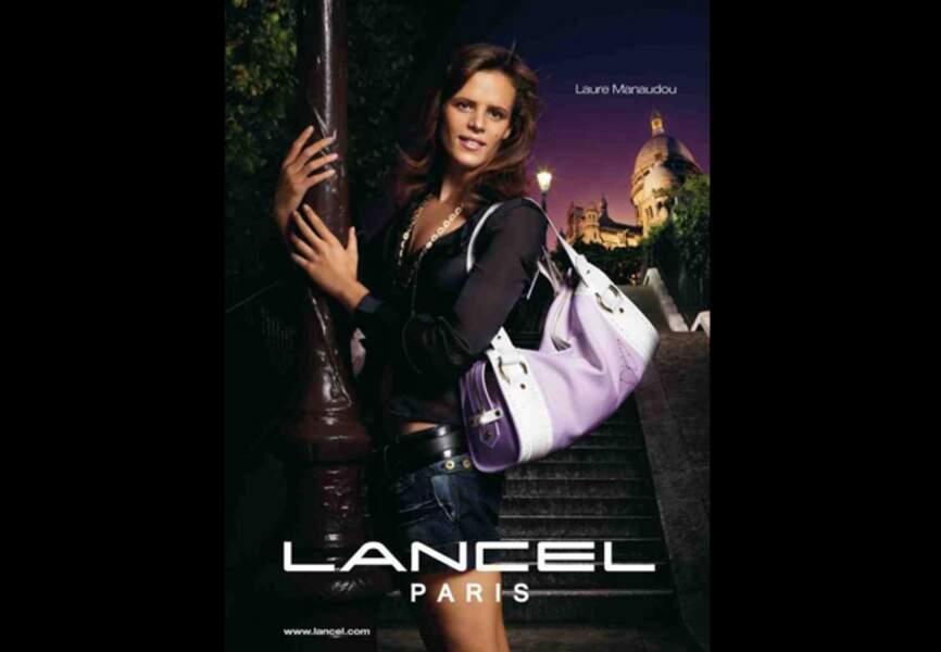 Egérie Lancel à la ville