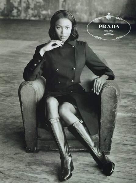 Première noire égèrie de Prada en 1994