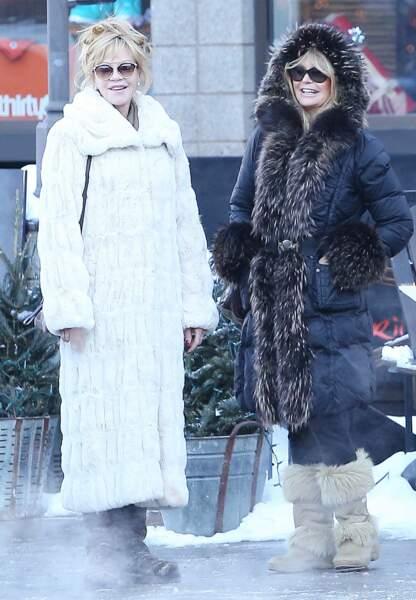 Melanie Griffith et Goldie Hawn à Aspen