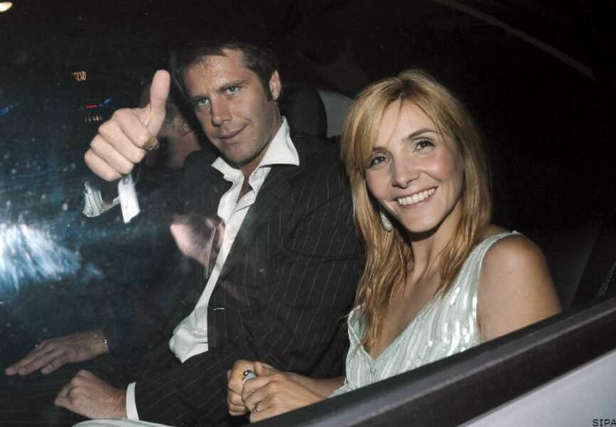 Clotilde et Emmanuel Philibert de Savoie après le dîner de l'Amfar, à Cannes, en 2008