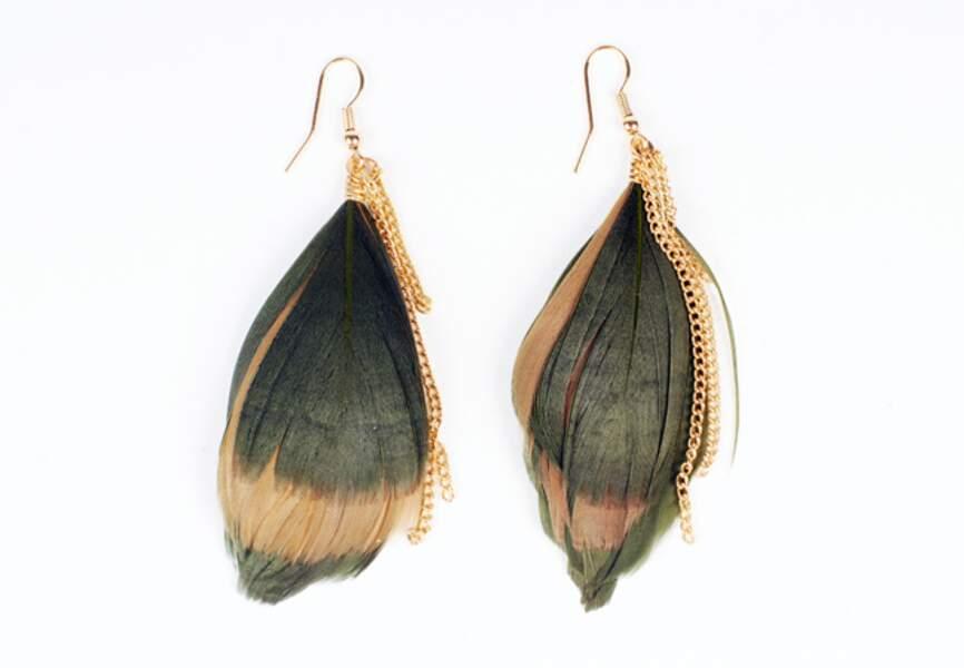 Moa – Boucles-d'oreilles plumes – 5,95€