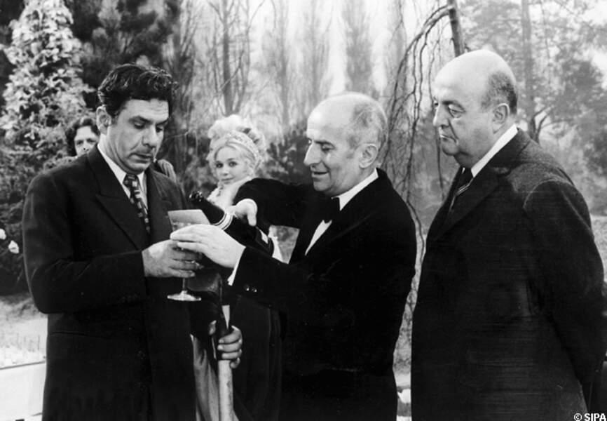 Michel Galabru, Louis de Funès et Bernard Blier sur Jo